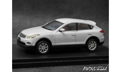 Nissan Skyline Crossover 2009 white 4x4 1-43  Wit's, масштабная модель, scale43