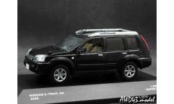 Nissan X-Trail xtt 2005 black 4x4  1-43 J-Collection, масштабная модель, scale43