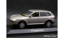 Porcshe Cayenne V6 2002 beige 4x4 1-43 Dealer=Minichamps