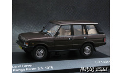 Land Rover Range Rover 3,5 5-doors 1978 d.brown 1-43  Whitebox