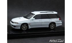 Subaru Legacy Touring Wagon GT-B white 4x4 1-43 Wit's