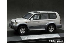 Toyota Land Cruiser Prado TZ 1996 grey 4x4 1-43 Hi-Story, масштабная модель, 1:43, 1/43