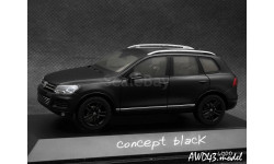 VW Touareg 2010 matt.black 4x4 1-43 Schuco