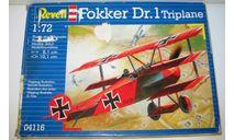 1/72 Fokker Dr.1 Triplane (04116) Revell (сборная модель), сборные модели авиации, scale72, Focker