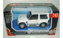 1/43 Mitsubishi Pajero Evoution (Cararama) белый, масштабная модель, scale43, Bauer/Cararama/Hongwell