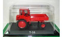 1/43 Трактор Т-16 1986г. (Hachette) без журнала, масштабная модель трактора, Тракторы. История, люди, машины. (Hachette collections), 1:43