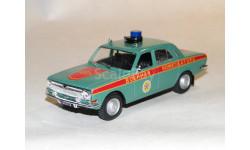 Волга ГАЗ 24 военная комендатура, масштабная модель, 1:43, 1/43, Автомобиль на службе, журнал от Deagostini