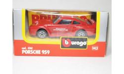 Porsche-959, масштабная модель, 1:43, 1/43, Bburago