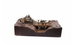 ДИОРАМА 'Т-70М и ЗИС-2' 1/35, масштабные модели бронетехники, Пятигорская бронза, scale35