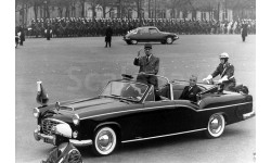 Citroen 15/6 Chapron Convertible президента Франции Рене Коти 1957 черный, масштабная модель, 1:43, 1/43, Norev, Citroën