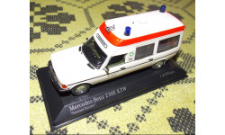 RAR!! Mercedes-Benz 230 E Binz Krankenwagen 1983, 1:43, Minichamps