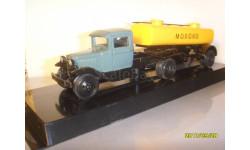 Горький-АА седельный тягач + полуприцеп+цистерна «Молоко» 4,5 куб. 1:43, масштабная модель, ЛОМО-АВМ, scale43, ГАЗ