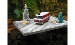 УАЗ-3741 пожарный (Словения) + Диорама (Зима)