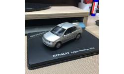 Renault Logan Prestige 1.6 MPI 1:43', серебристый, масштабная модель, Eligor, scale43
