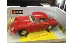 Porsche 356B Coupe (1961) 1:18, масштабная модель, Bburago, scale18