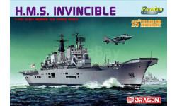 Авианосец HMS Invincible масштаб 1:700, сборные модели кораблей, флота, Dragon