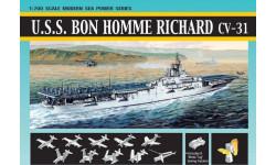 Авианосец USS Bon Homme Richard CV-31 масштаб 1:700, сборные модели кораблей, флота, Dragon