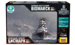 9204 Германский линкор Бисмарк масштаб 1:1200, сборные модели кораблей, флота, Звезда