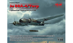 Ju 88A-4/Torp, Германский торпедоносец ІІ МВ масштаб 1:48 ICM48236, сборные модели авиации, 1/48