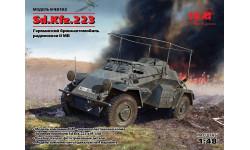 Sd.Kfz.223, бронеавтомобиль радиосвязи ІІ МВ масштаб 1:48 ICM48192, сборные модели бронетехники, танков, бтт, 1/48