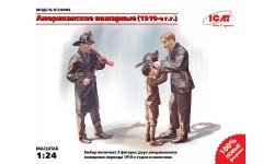 Американские пожарные 1910г. масштаб 1:24 ICM24005, миниатюры, фигуры, 1/24