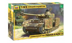 Немецкий средний танк T-IV (H), сборные модели бронетехники, танков, бтт, 1:35, 1/35, Звезда