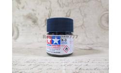 Краска акрил X-3 королевская синяя (Royal Blue) глянцевая 10мл, фототравление, декали, краски, материалы, Tamiya