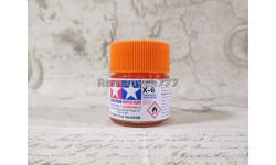 Краска акрил X-6 оранжевая (Orange) глянцевая 10мл, фототравление, декали, краски, материалы, Tamiya