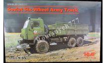 ICM35001 Советский 6-колесный армейский автомобиль ( камаз ), сборная модель автомобиля, scale35