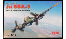 ICM48232 Junkers Ju 88A-5 масштаб 1:48, сборные модели авиации, scale48