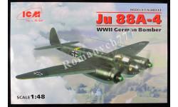 ICM48233 Junkers Ju 88A-4 масштаб 1:48, сборные модели авиации, scale48