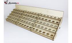 LSH0004 Стойка под краску на 90 баночек (750мм) универсальная, инструменты для моделизма, расходные материалы для моделизма