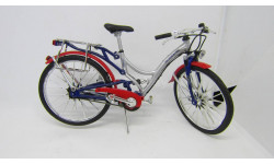 Велосипед AUDI Quattro Sitybike 1:12, масштабная модель мотоцикла, 1/12