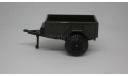 ПРИЦЕП бортовой ранний УАЗ Тантал Саратов  зеленый пластик 1:43, масштабная модель, scale43, Агат/Моссар/Тантал