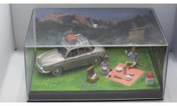 Диорама Renault Ondine La Route Bleue + фигурки 1/43, масштабная модель, 1:43, Altaya La Route Bleue
