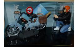 Мопед Mobylette - Bleu 118 305 - 00 с фигурой водителя, масштабная модель мотоцикла, 1:10, 1/10, Solido