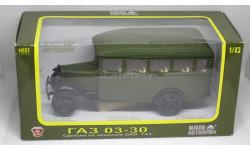 ГАЗ 03-30 автобус (темно-зеленый) НАП 1/43