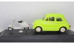 Steyr Puch 650 T 1960 green with Vespa 1/43