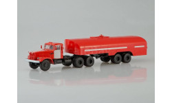 КрАЗ-258Б1 с полуприцепом-цистерной ТЗ-22, пожарный, масштабная модель, 1:43, 1/43, Автоистория (АИСТ)