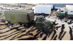 ГАЗ 51 тягач с полуприцепом фургоном