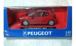Peugeot 207, масштабная модель, 1:43, 1/43