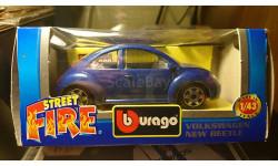Volkswagen new beetle, масштабная модель, Bburago, 1:43, 1/43