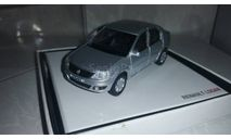 1/43 Renault Logan 2010 серебристый, масштабная модель, Norev, scale43