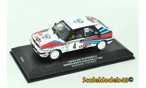 1-43 Lancia Delta Integrale (Winner Monte-Carlo Rally / M. Biasion - T. Siviero) 1989, масштабная модель, IXO Road (серии MOC, CLC), scale43