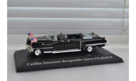 1:43 CADILLAC Limousine визит Queen Elizabeth II Voyage и Dwight D. Eisenhower в Париж 1959, масштабная модель, Norev, 1/43