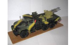 ЗиЛ-131 камуфляж с зенитной установкой ЗУ-23-2 в кузове, масштабные модели бронетехники, СПбМ, scale43