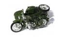 1:24 мотоцикл с коляской ИМЗ M-72 'Урал' 1955, масштабная модель мотоцикла, Atlas, 1/24