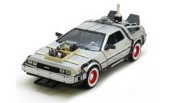 DE LOREAN DMC12 'Back to Future 3' (из к/ф'Назад в будущее 3') 1987, масштабная модель, Welly, scale24, DeLorean