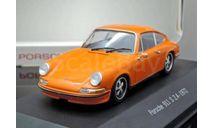 PORSCHE 911 S 2.4 1972 Orange, масштабная модель, Atlas, scale43