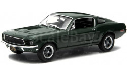 FORD Mustang Fastback 1968 Green (из к/ф 'Буллит'), масштабная модель, Greenlight Collectibles, scale43